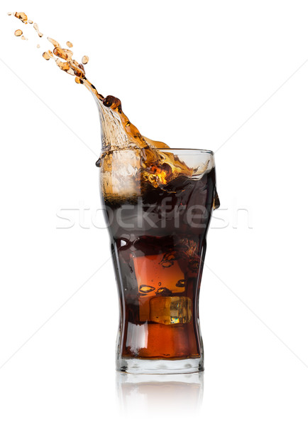 Cola in glass Stock photo © Givaga