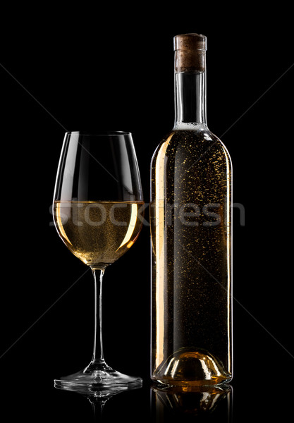 White wine on black Stock photo © Givaga