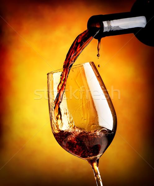 Vino tinto naranja vino diseno Foto stock © Givaga