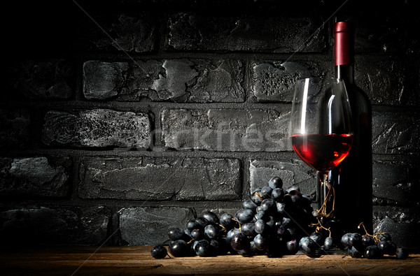 Bunch of grapes and wine Stock photo © Givaga