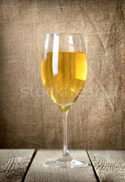 Glass of white wine Stock photo © Givaga
