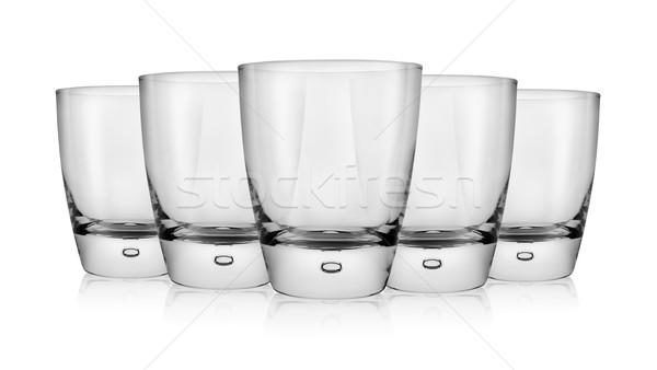 空っぽ ガラス ウイスキー 孤立した 白 光 ストックフォト © Givaga