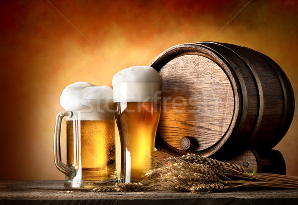 Beer and barrel Stock photo © Givaga