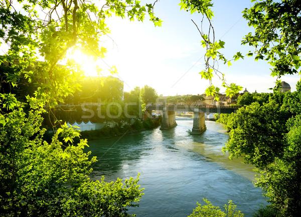Ponte Palatino, Italy Stock photo © Givaga