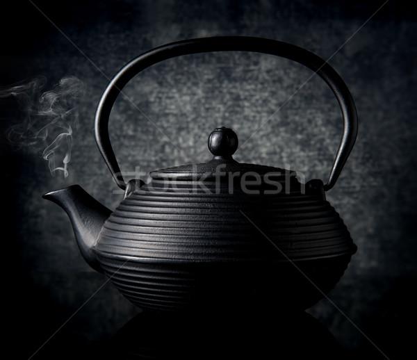 黒 中国語 ティーポット 背景 ドリンク ボール ストックフォト © Givaga