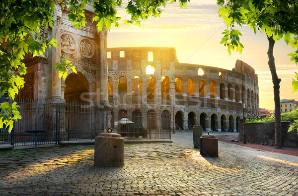 Colosseum and Arch Stock photo © Givaga