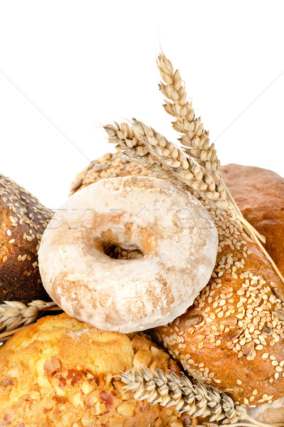 Bread and wheat isolated Stock photo © Givaga