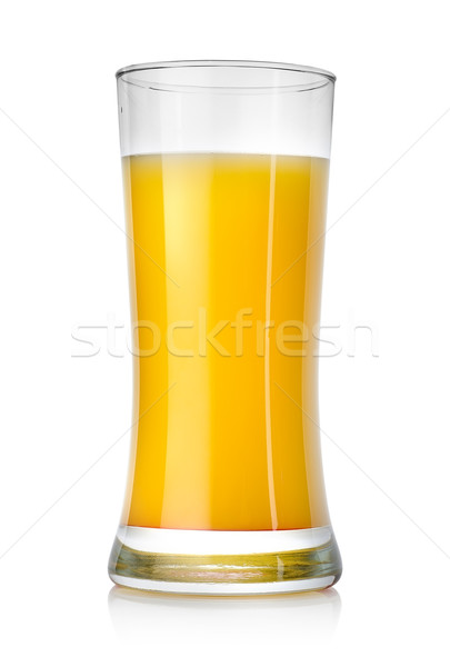Sappig sinaasappelsap groot glas geïsoleerd witte Stockfoto © Givaga