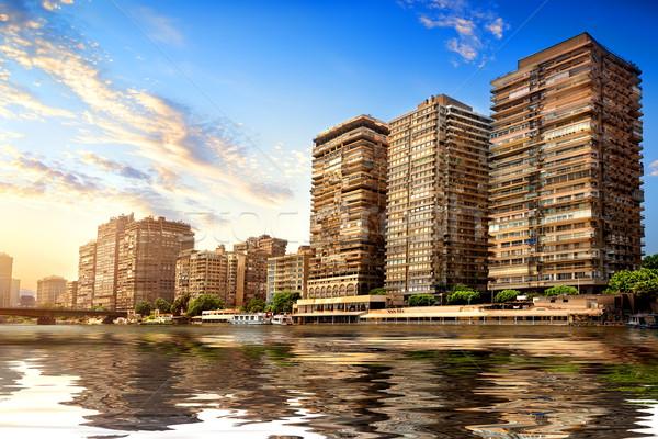 Modern Cairo on Nile Stock photo © Givaga