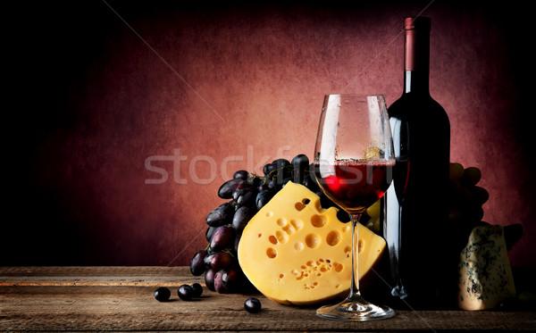Cheese to wine Stock photo © Givaga