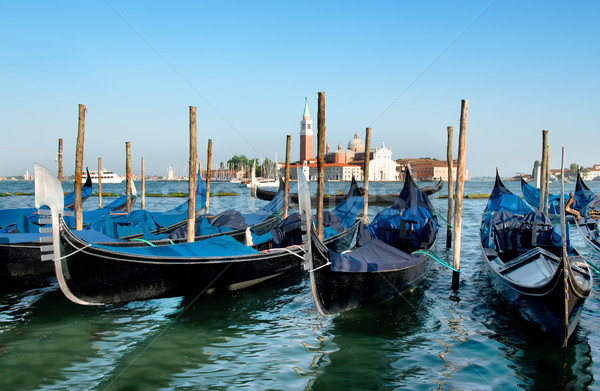 Gondolas in Grand Canal Stock photo © Givaga
