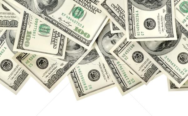 Kollázs pénz izolált fehér textúra pénzügy Stock fotó © Givaga