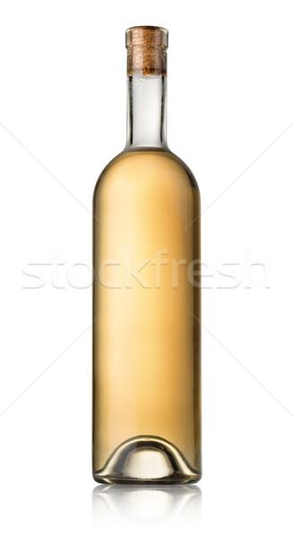 Butelki białe wino odizolowany biały alkoholu Zdjęcia stock © Givaga