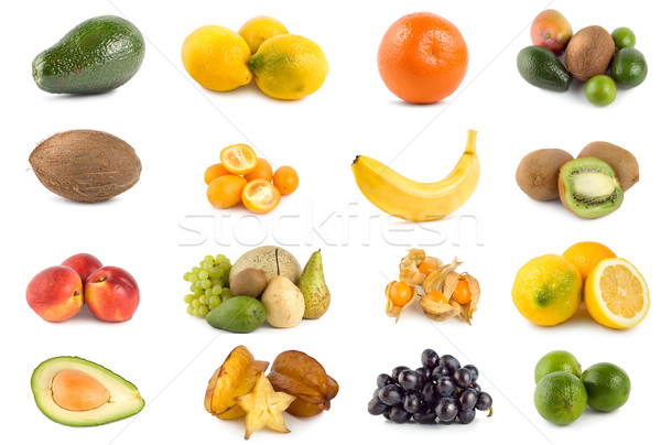 Tropical fruits isolated Stock photo © Givaga