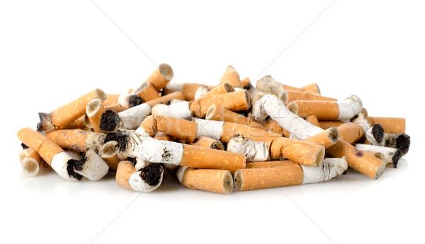 Sigaret gerookt sigaretten geïsoleerd witte niemand Stockfoto © Givaga