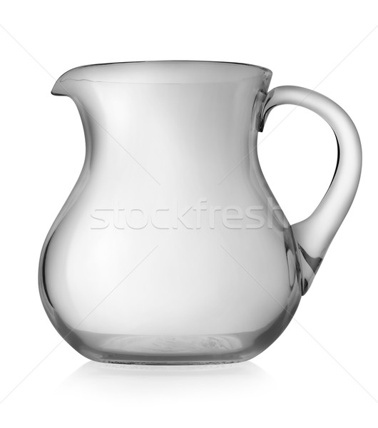 Stock photo: Glass pitcher