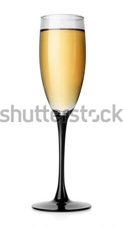 Witte wijn glas geïsoleerd witte wijn drinken Stockfoto © Givaga