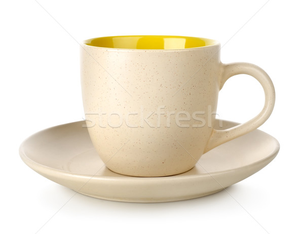 Yellow cup and saucer Stock photo © Givaga