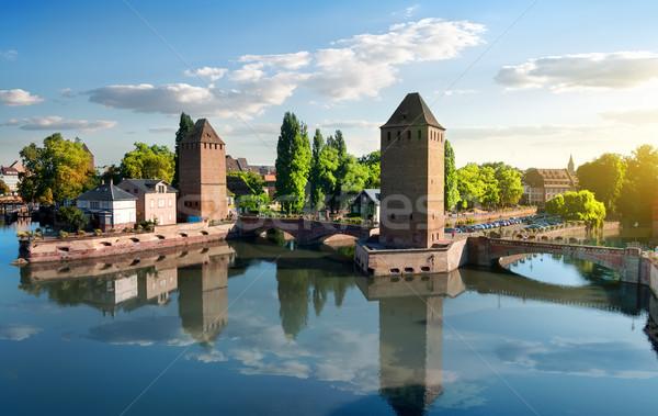Covered bridge in Strasbourgh Stock photo © Givaga