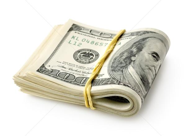 Elastiekje geïsoleerd witte business geld Stockfoto © Givaga