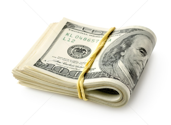 Elástico isolado branco negócio dinheiro Foto stock © Givaga