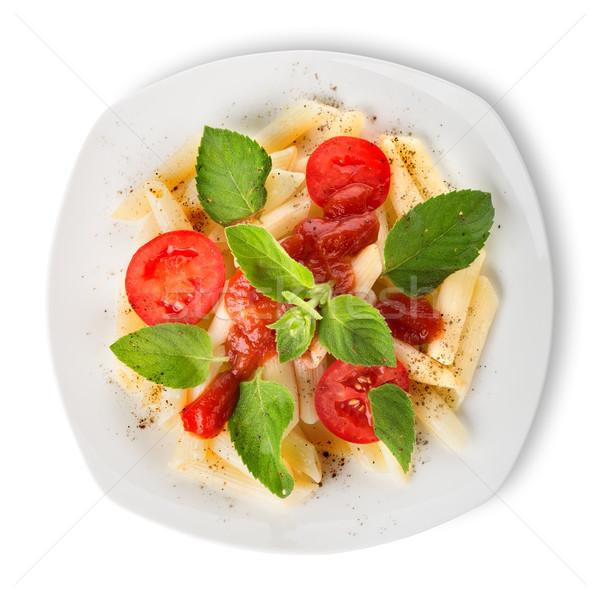 Tészta ketchup paradicsomok izolált fehér étel Stock fotó © Givaga