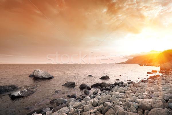 Scenic sunset at sea Stock photo © Givaga