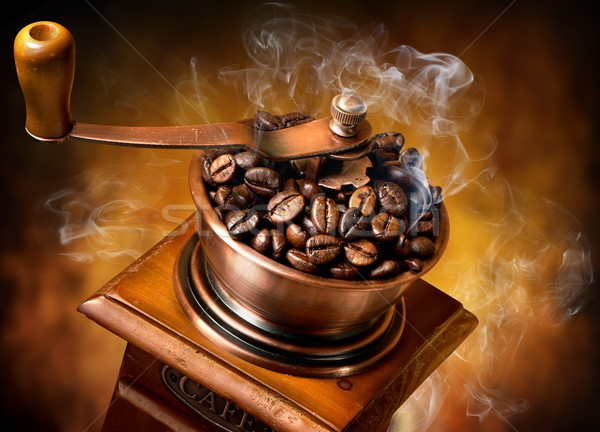Old wooden coffee-mill Stock photo © Givaga