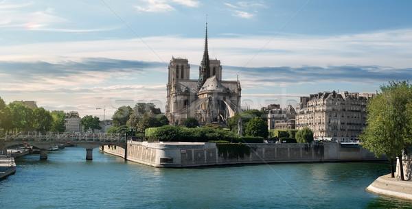 Notre Dame on Seine Stock photo © Givaga