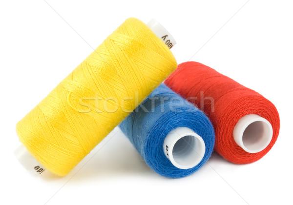 потока три красный швейных текстильной хлопка Сток-фото © Givaga