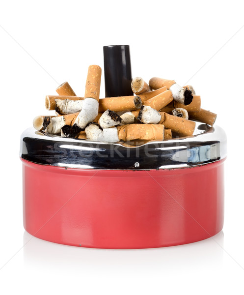 Cigarettes and old ashtray Stock photo © Givaga