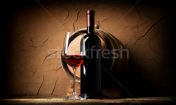 Old wine in cellar Stock photo © Givaga