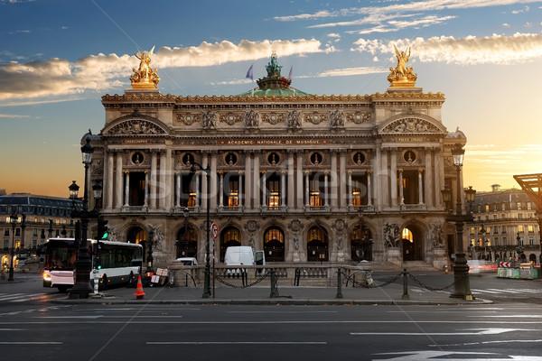 парижский опера утра Франция облака здании Сток-фото © Givaga