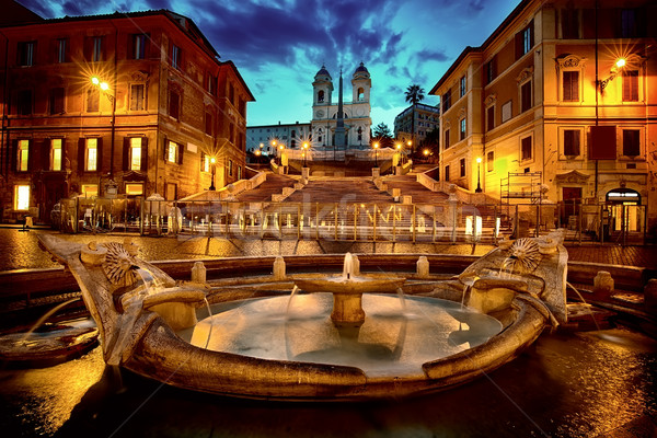 Spanish Steps in Rome Stock photo © Givaga