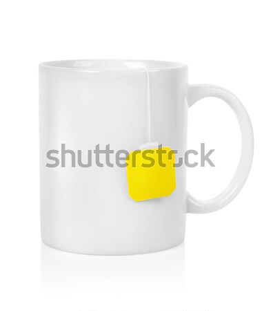 White cup with a teabag Stock photo © Givaga