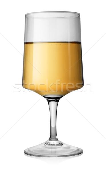 Rectangular glass of white wine Stock photo © Givaga