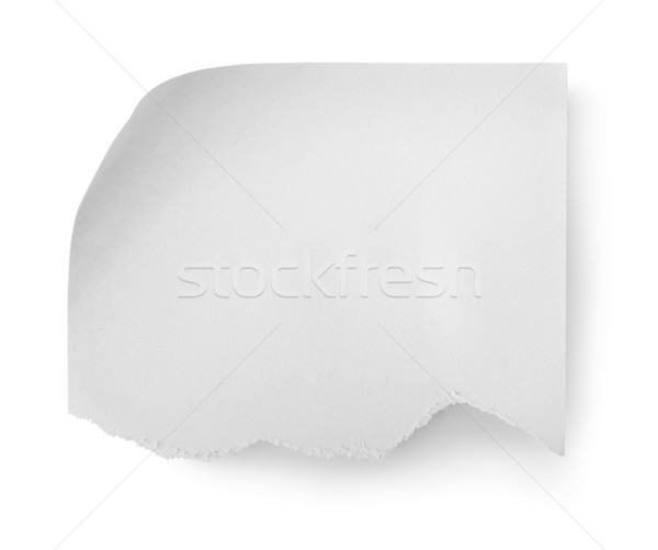 Torn sheet of paper Stock photo © Givaga