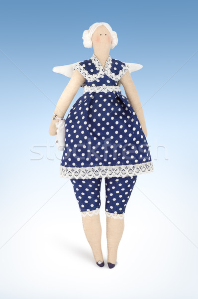 Soft toy woman butterfly Stock photo © Givaga