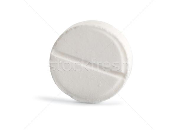 Tabletta aszpirin út izolált fehér Stock fotó © Givaga