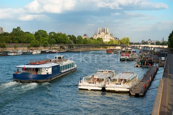 лодках воды транспорт Париж Франция небе Сток-фото © Givaga