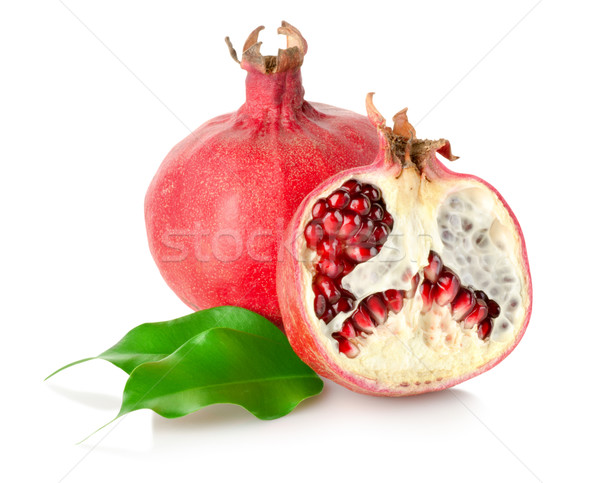 Pomegranate with leaves Stock photo © Givaga