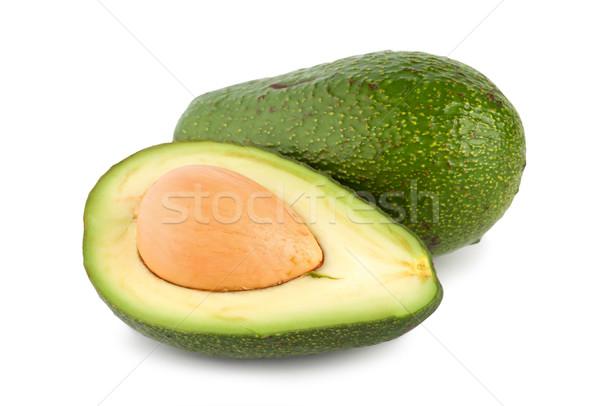 Tropische vruchten avocado rijp geïsoleerd witte Stockfoto © Givaga