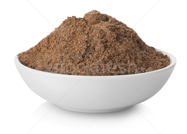Ground pepper in plate Stock photo © Givaga