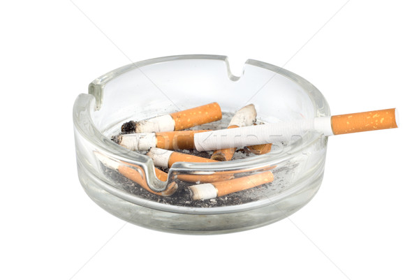 Ashtray and cigarettes close-up Stock photo © Givaga