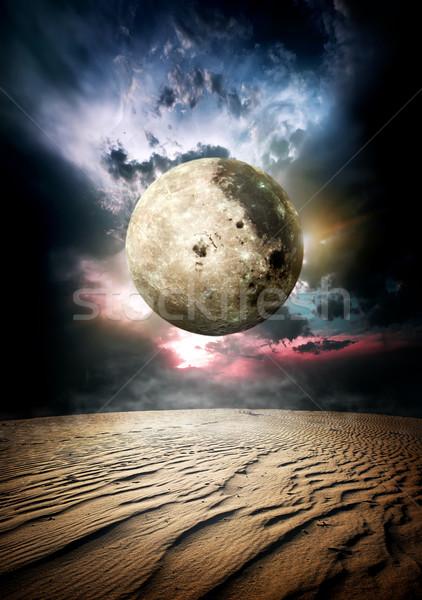 Fool moon in desert Stock photo © Givaga