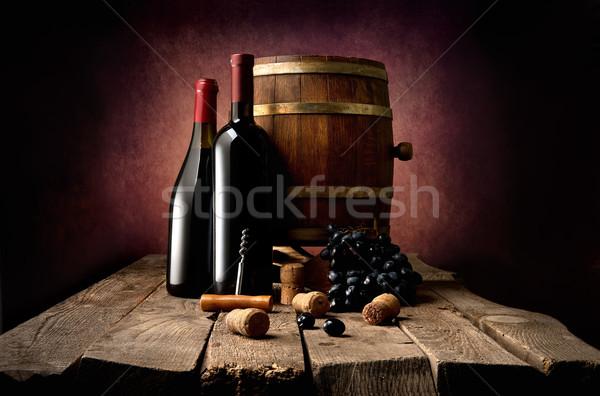 Wine and corkscrew Stock photo © Givaga
