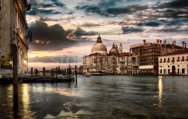 Dramatic sky in Venice Stock photo © Givaga
