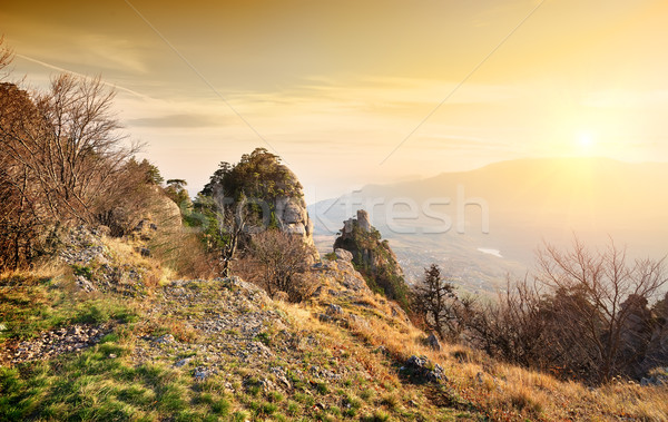 Valley of ghosts in autumn Stock photo © Givaga