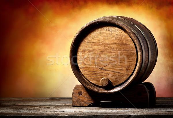 Hordó áll fából készült színes fekete sötét Stock fotó © Givaga