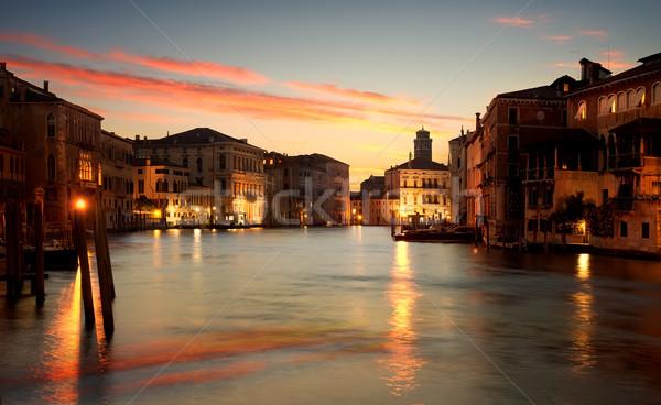 午前 ヴェネツィア 運河 イタリア 水 ストックフォト © Givaga
